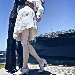 statue kissing vacation freetoedit