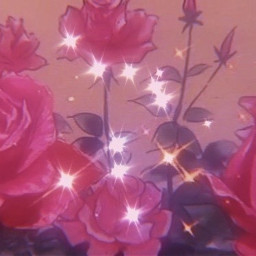 roses pink sparkle aesthetic freetoedit