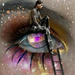 freetoedit galaxyeye eye eyelashes eyeshadow