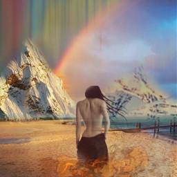 allpicsart fantasyart surrealart womanart colorful