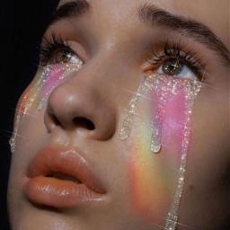 rainbow voteplease rainbowaesthetic face aesthetic