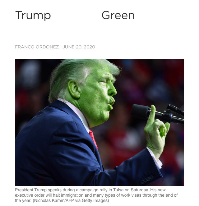 #trump #green #spoonham