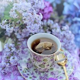 freetoedit tee tea teatime flowers