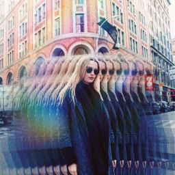 freetoedit prism rainbow girl city