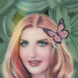freetoedit greenleaves leaves beautifulwoman woman