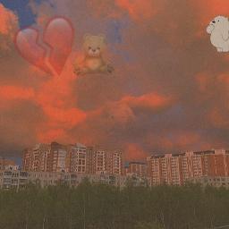 freetoedit bear heart broke brokenheart