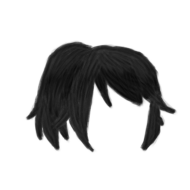 My first time shading hair