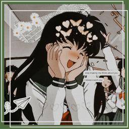 freetoedit animeedit animeaesthetic kagomehigurashi inuyasha