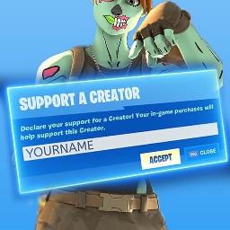 supportacreator thumbnail fortnite skin followme