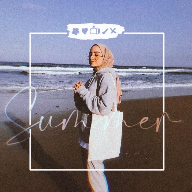 #freetoedit #summer #beach #girl #hijab #photography #sky #seaside #sealife