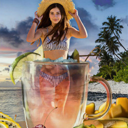 freetoedit dragonfruit glass cocktail girl