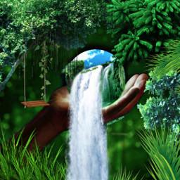 jungle green myedit nature beautiful freetoedit