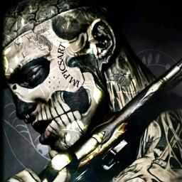 tattoo tattooart mask collage art