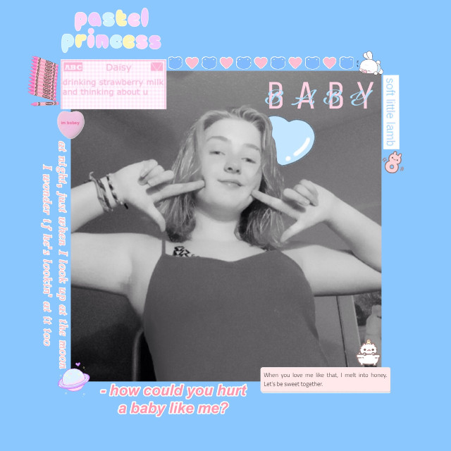 so if you wanna piss off your parents date me to scare them show them you're all grown up                                        idk how i feel ab this edit tbh              #babycore #babycoreaesthetic #softboy #softgirl #softcore #softaesthetic #babyblue #pastelaesthetic #softcoreaesthetic #pastelpink #pastelblue #babypink #princess #prince #littlespace #cglre