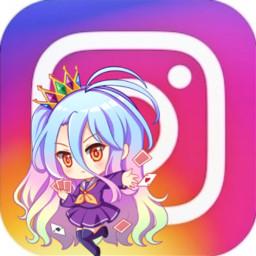 shiro instagram rainbowhair logo nogamenolife freetoedit