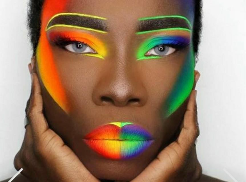 🏳️🌈GAY PRIDE ~RAINBOW MAKEUP #lipstick #mouth #eyelash #smile #lipstick #rainbow #rainbowmakeup #gaypride #gay  #neon #colorful #makeup #pride @aliciacoleman9