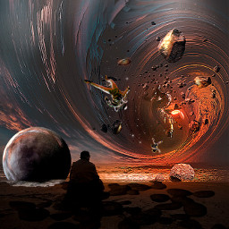 freetoedit picsart myedited planet astronaut