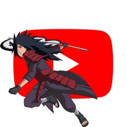 madara naruto anime youtube logo freetoedit