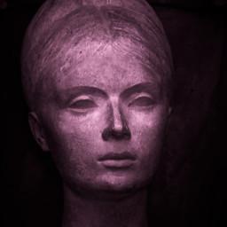 head sculpture stone womanface bust freetoedit