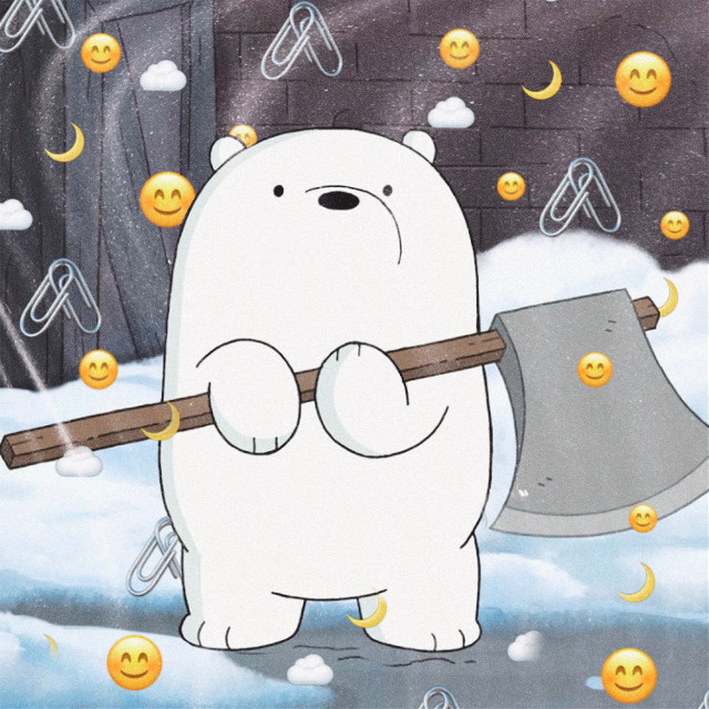 Baby Ice Bear ❄️🐻🤍 #art #snow #icebear #icebearwebarebears #axe #baby #ice #bear #bears #webarebears #webarebearsforever #webarebearscartoon #we #bare #moon #cloud #paperclips #paperclip #nature #france  #freetoedit