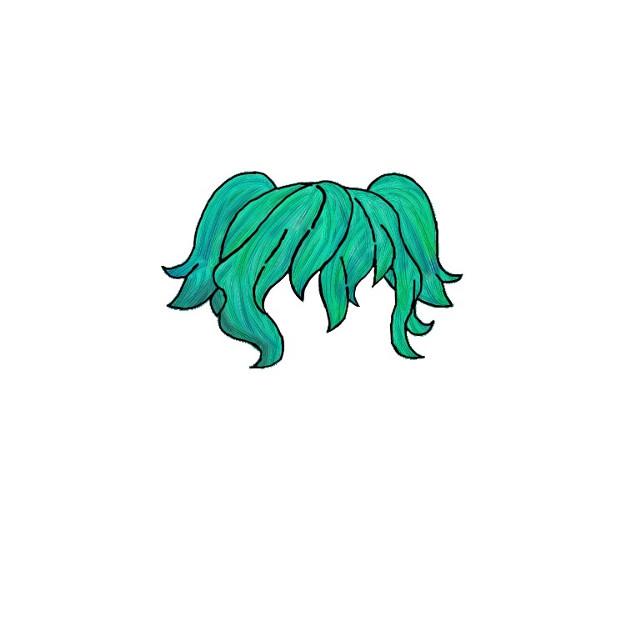 Ocean hair #gachalife #gachalifehair