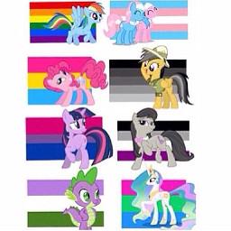 mylittleponyfriendshipismagic mylittlepony ponies pride prideflags freetoedit