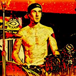 travisbarker blink182 idk drums tattos freetoedit