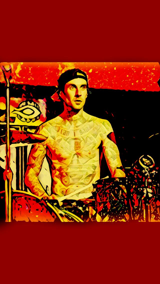 The real travis #travisbarker #blink182 #idk #drums #tattos  #freetoedit