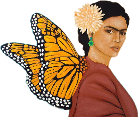 freetoedit butterfly fridakahlo