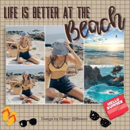 freetoedit beach beachlife frame ftestickers