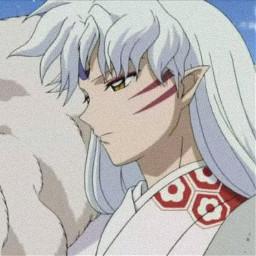 inuyasha sesshomaru animeaesthetic white whiteaesthetic freetoedit