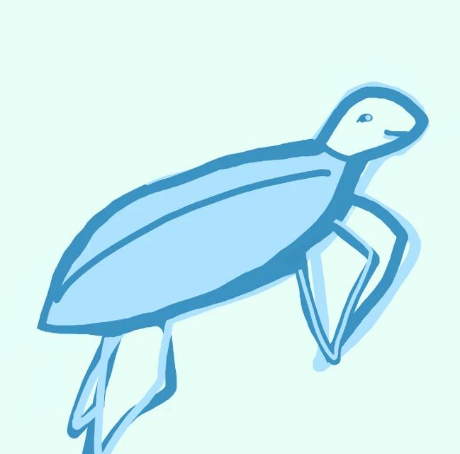#turtle #art #savetheoceans #savetheearth #savetheturtles #blue #pastel #vsco #sksksksks