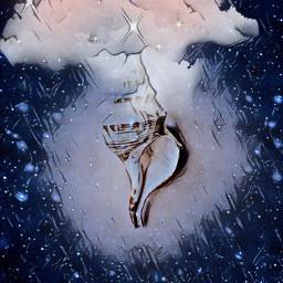 freetoedit seashell nightsky clouds stars ircseatreasure seatreasure
