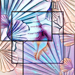 freetoedit sea shell shells seashell pastel peach squares frames fxeffects beach summer picsart challenge