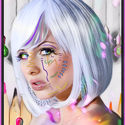 facepaint colourful colours fxeffects picsartgold artisticeffect magiceffects myedit face woman girl lady chica rainbowcolours freetoedit srcdoodlemask doodlemask