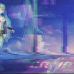 freetoedit lucadrillo wave hdr noise glitch logo cryptonloid animeart hatsunemiku tda append