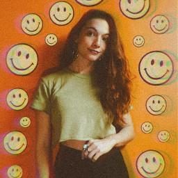freetoedit orange green smile smiles
