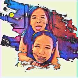 freetoedit paintstroke sisters smile tulotulo