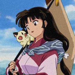 inuyasha sango sangoinuyasha animeaesthetic pink pinkaesthetic profilepic profilepicture anime animeicon freetoedit