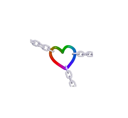 chain heart rainbow kidcore colorful freetoedit