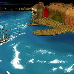 digitalart ocean ship