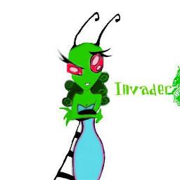 invaderk digitalart alien