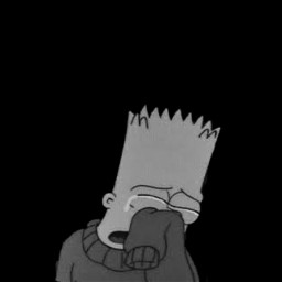 freetoedit depression bartsimpsons bart sad fakingasmile blackandwhite