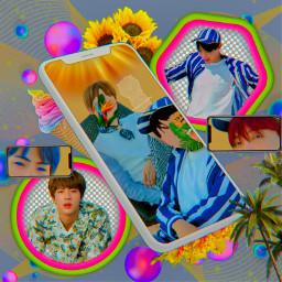 bts seokjin hoseok kimseokjin junghoseok seokjinedit hoseokedit btsedit kpop kpopedit summer aesthetic colorful hopejin