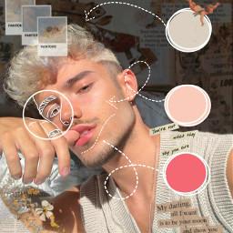 soft freetoedit aesthetic aestheticboy hair vintage white beige pantone
