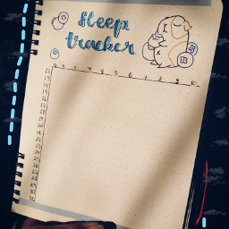 tracker sleeptracker bulletjournal freetoedit
