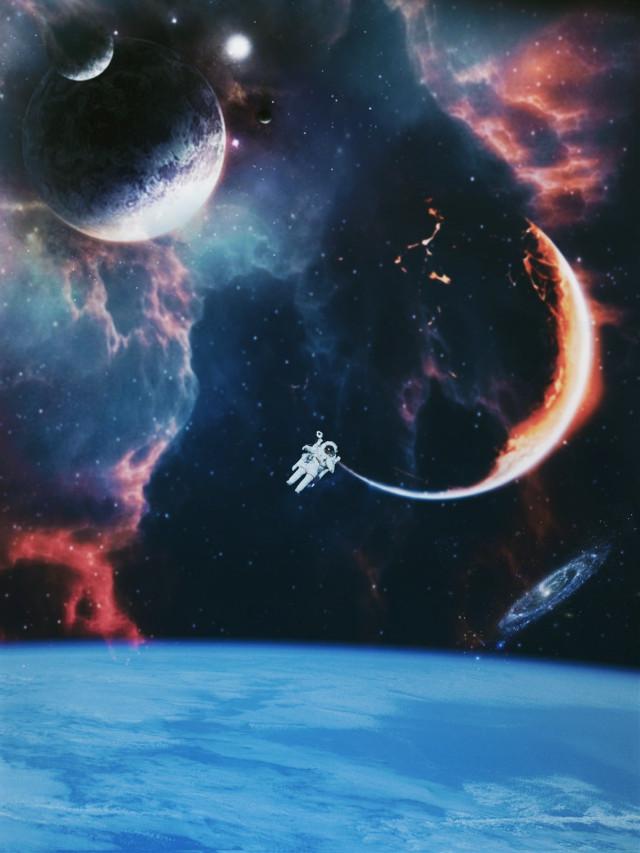 Hola🙋♀️ #freetoedit #space #surreal #madewithpicsart #araceliss #myedit