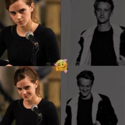 freetoedit dramione dramione4ever dracomalfoy hermionegranger tomfelton emmawatson