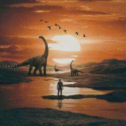 surreal prehistoric madewithpicsart madebyme myedit dinosaurstickerremix dinosaurs freetoedit