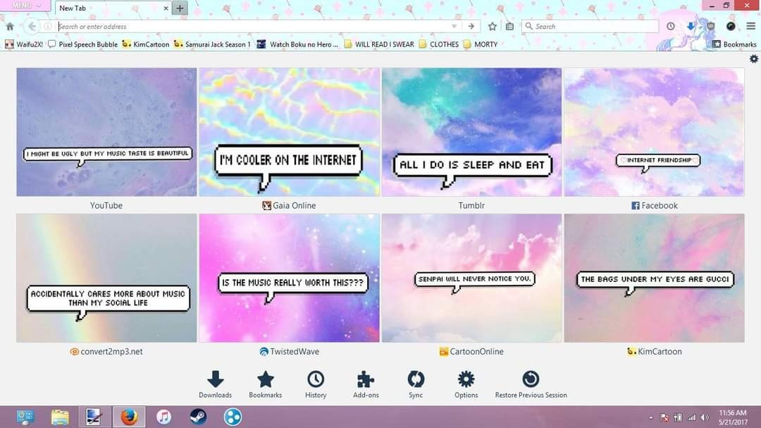 I also miss this version of Firefox because I could make it ✨Aesthetic✨ as well.